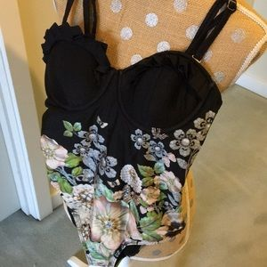 Other - Black and flower bathing suit!